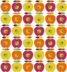 Bright apples seamless