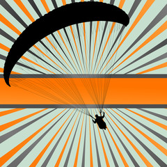 Paragliding vector background landscape concept vector
