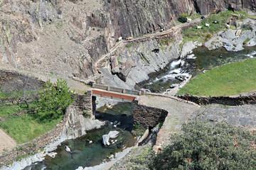 Puente sobre el río Malvedillo, Fragosa, Hurdes, España