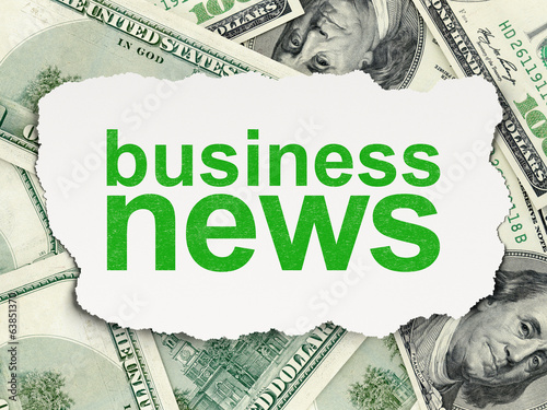News concept: Business News on Money background