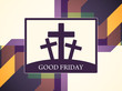 colorful creative card design for Good Friday