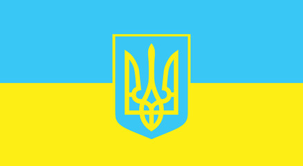 Vector flag of Ukraine