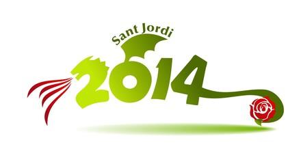 SANT JORDI 2014 - DRAC I ROSA