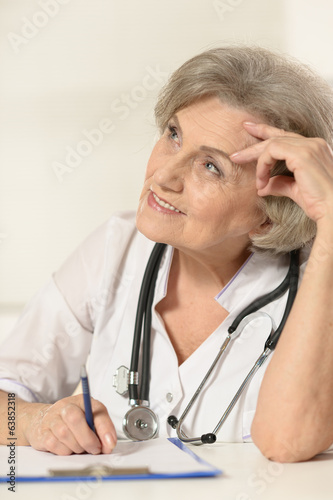 Elderly woman doctor