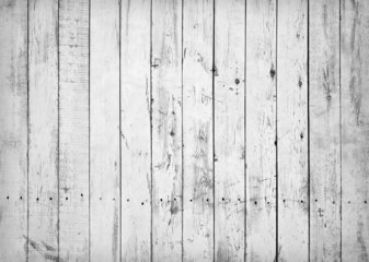 Black and white background of weathered wooden plank