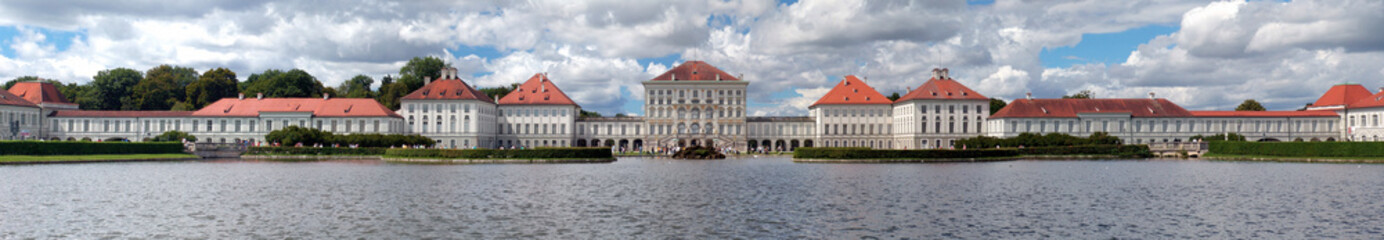 Panorama of  Nymphenburger Schloss in Munich