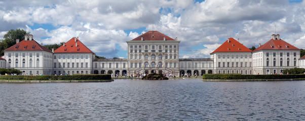 Panorama of  Nymphenburger Schloss in Munich