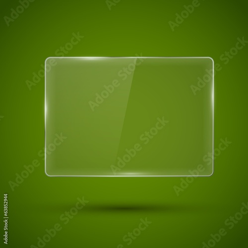 Glass framework. Vector illustration.