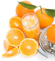 Freshly squeezed ice cold orange juice