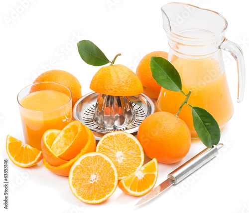 Fresh squeezing orange juice