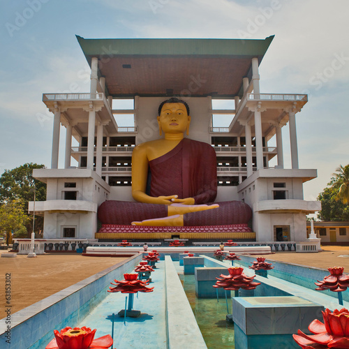 Weherahena Buddhist Temple in Matara, Sri Lanka.