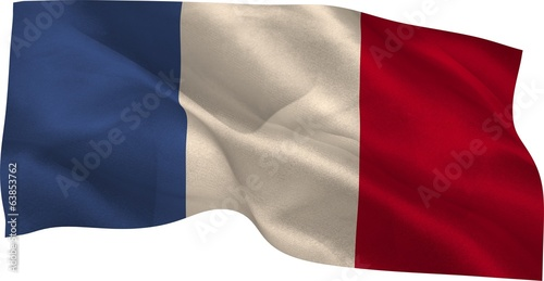Digitally generated france national flag