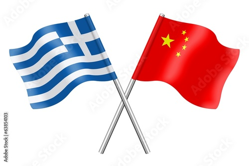 Flags: China and Greece