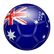 Soccer ball at the colors of Australia