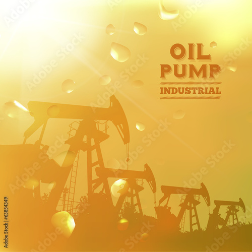 Oil pump jack silhouette design.