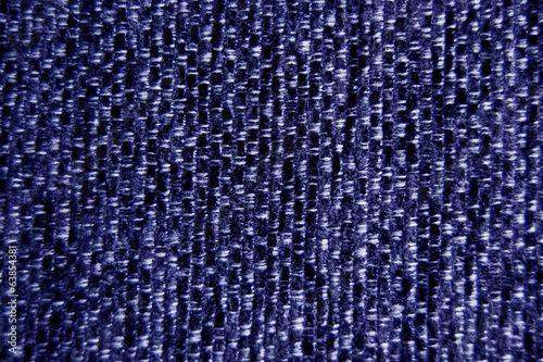 Blue fabric material wallpaper background close-up