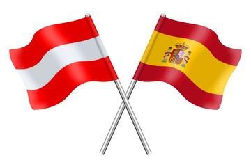 Flags: Spain and Austria