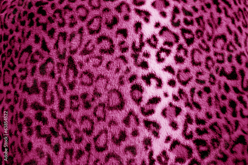 Pink / purple leopard animal print fur pattern - fabric