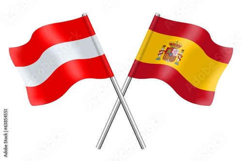 Flags: Spain and Austria
