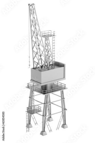 realistic 3d render of crane