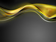 Elegant gentle gold waves on grey background