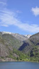 Akrafjord, Fjord, Mittelgebirge, Sommer, Norwegen