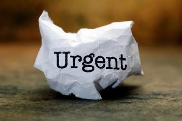 Urgent trash concept
