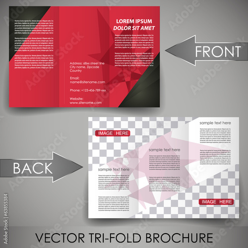 Three fold flyer template, corporate brochure