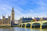 Fototapety Westminster Bridge, Houses of Parliament and Thames river, UK