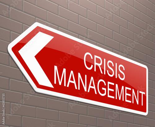 Crisis management concept.
