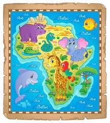 Africa map theme image 3