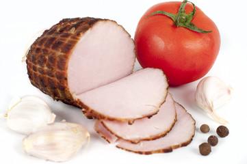 ham on white background