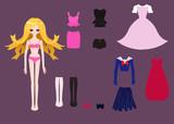 Paper doll clothes set