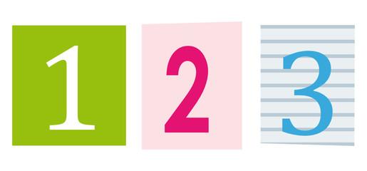 123. Numbers. Education symbol.