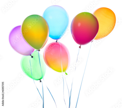 flying balloons isolated