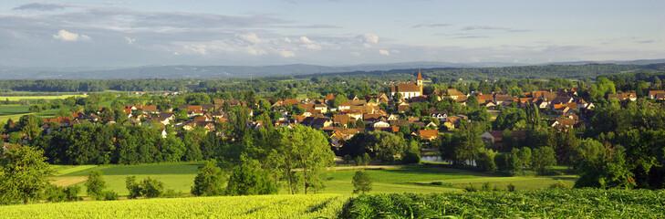 Village d'Eschentzwiller, Alsace , Haut-rhin .