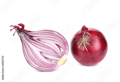 Red onion and half.