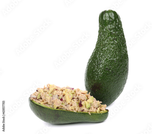 Avocado and tuna salad.