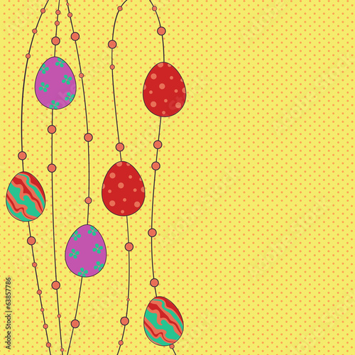 Easter greeting template