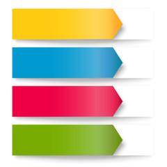 Arrows banners, colorful design