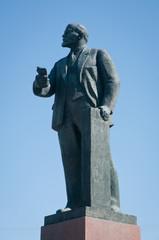 Monument of Vladimir Lenin on Lenin Square in Simferopol, Crimea