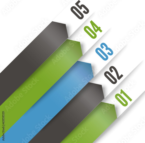 Arrow element template. Vector illustration for workflow layout