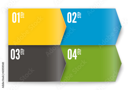 Your next step arrow boxes - colorfull arrows vector set
