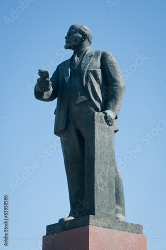 Monument of Vladimir Lenin on Lenin Square in Simferopol, Crimea