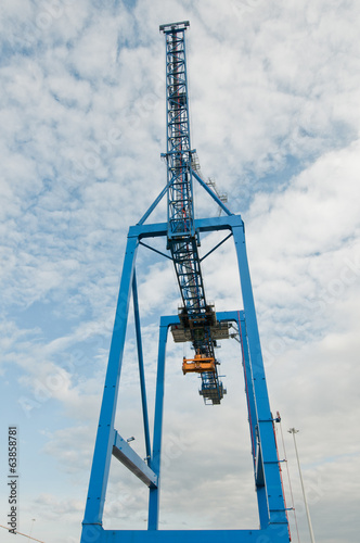 container handling gantry crane on a container terminal