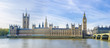 roleta: Westminster with Big Ben of London panorama