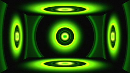 Light Circles Box Green