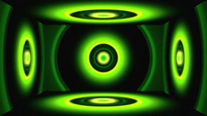 Light Circles Box Green