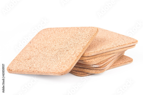 Coasters isolated on white background