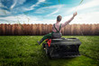 canvas print picture - Lawn Tractor